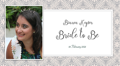 Bianca Keyser Bride to Be