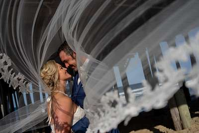 Mike + Heather, Kitty Hawk Pier House Wedding