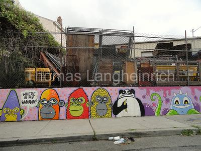 New York City, NYC, New York, NY, Thomas Langheinrich, Random Impressions, Random, Impressions, Photos, Photographs, Photography, pictures, pics, pix, frames, prints, canvas, download, digital, large prints, 2012, graffiti, street art, sidewalk, industrial, Queens, Astoria, Hallets Cove, mural, sidewalk, industry, lot, fence, commercial