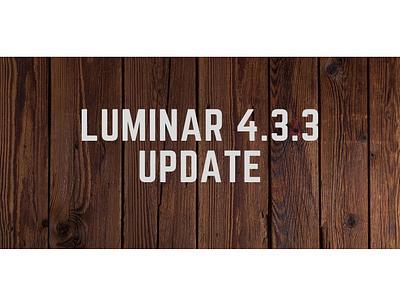 Luminar 4.3.3 Update