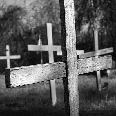 White Wooden Crosses