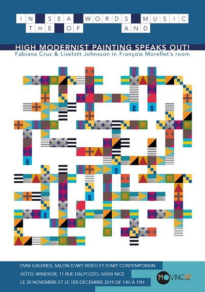 HIGH MODERNIST PAINTING SPEAKS OUT @ Ovni Galleries, Salon d'Art Contemporain, Hotel Windsor, Nice, November 30 - December 1, 2019