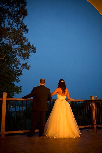 wedding at dusk