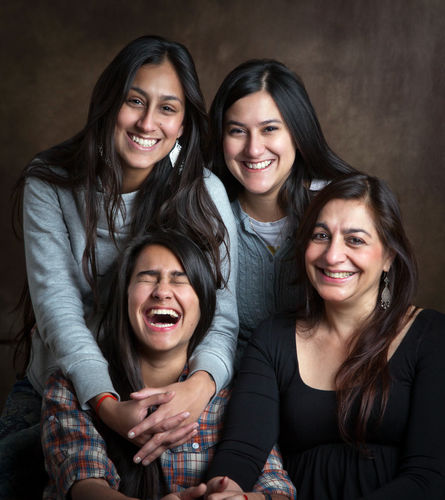 Kalpana Misra and her daughters, Karuna, Danika and Nayantara Parikh.