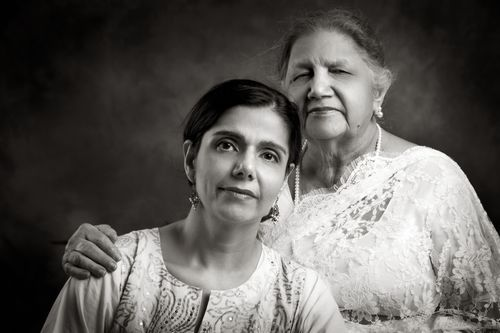 Anuradha Sharma and her Mom Mrs. Mallick.
