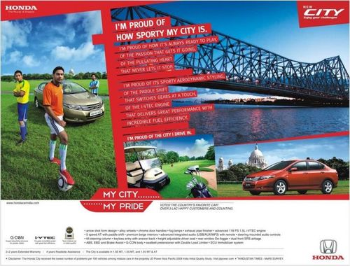 Client: Honda City. Agency: Dentsu