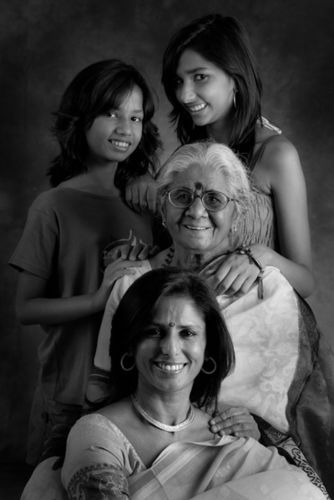 Rachana Yadav, and Mom, Ms. Mannu Bhandari. And daughters Myra and Mahi.