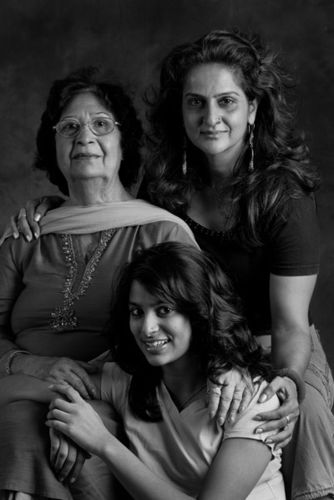 Superna and Vaani Chopra. And Superna's Mom-in-law Mrs Chopra.