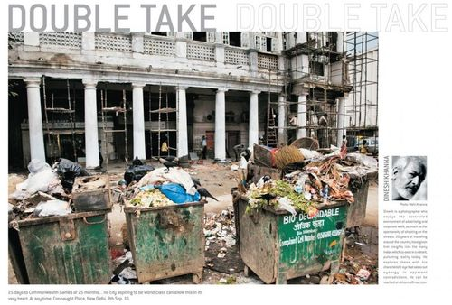25 days to Commonwealth Games or 25 months . . . no city aspiring to be world-class can allow this in its very heart. At any time. Connaught Place, New Delhi. 8th Sep. 10.