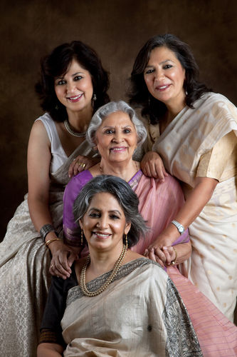 Jyoti Malhotra, with her Mom, Indira Malhotra and sisters, Gayatri Ghadiok and Deepti Nijhawan.