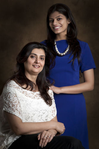 Sherry Kohli Bhatia and her daughter, Sanshe.