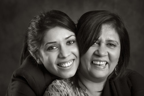 Pammi Hastu with her daughter, Kaisha.