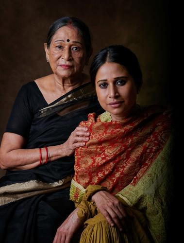 Mothers & Daughters ... Chinki Sinha, writer and traveller, with her Mother, Vishnu Priya Sinha ...