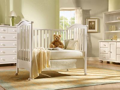 Bear in Crib Nursery