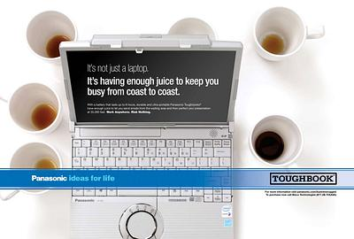 Laptop and Coffee Ad