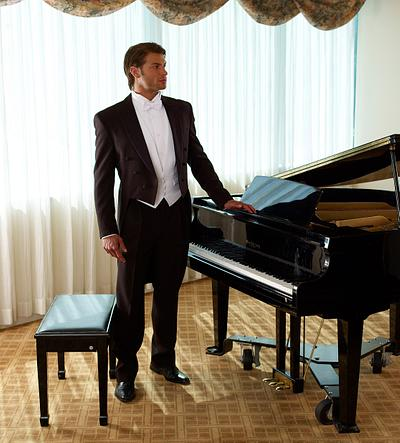 Man by Piano