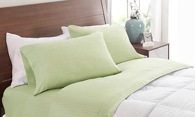 Sage Dobby Stripe Sheets
