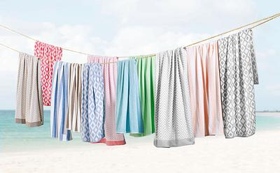 Towels Hanging on the Beach