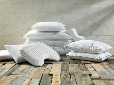 White Pillow Assortment Lifestyle