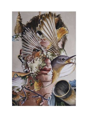 Boy with Horn and Feathers