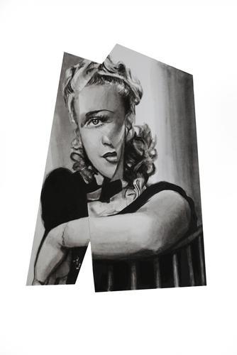 """""""Marlene""""  watercolor on paper, 14""""x 11"""" 2017"""