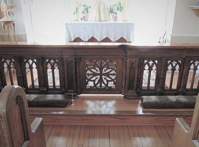 Communion Rail/ Rectory Chapel - Holy Family, Columbus