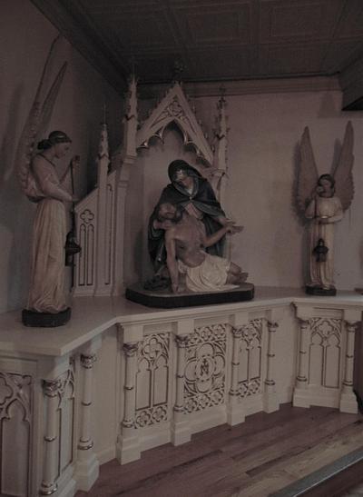 Sorrowful Mother Shrine - New Gothic Votive Shrine