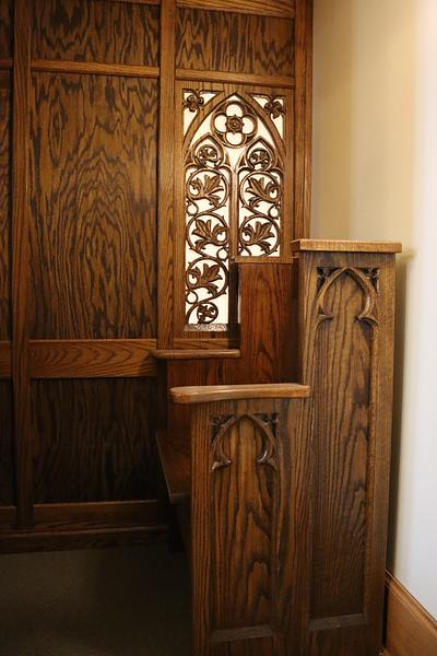 19th Century Gothic Revival Confessional Restoration