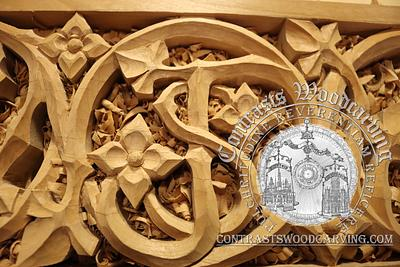 Carving St. Joseph's Monogram