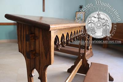 Gothic Revival Portable Communion Rail Joinery