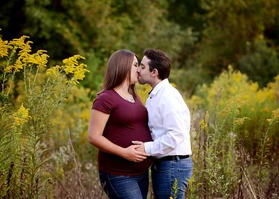 Megan & Bill | Maternity Session | Mill Creek Park | Lake Newport Wetlands | Lanterman's Mill | Youngstown Maternity Photographer