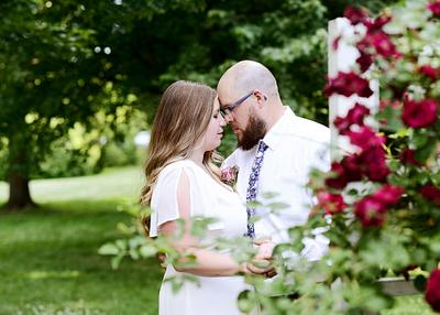 Amy & John | Summer Backyard Wedding | Boardman Park | Youngstown Wedding Photographer