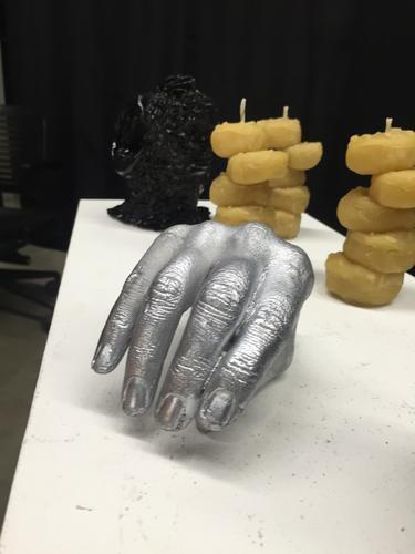Hand, cast aluminum, 2016