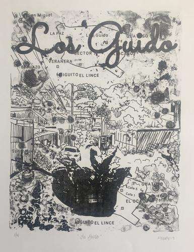 Los Guido, polyester plate lithograph, 12x15""