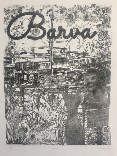 Barva, polyester plate lithograph, 12x15""