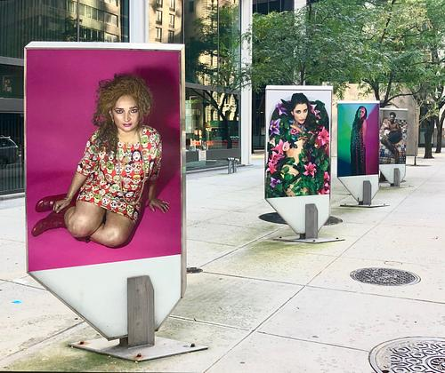 NYC DOT Art's Art Display Cases, Water St. near Wall St. and Gouverneur Lane, 2018-2019