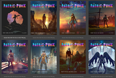 Releasing each Faerie-Punk story as individual books