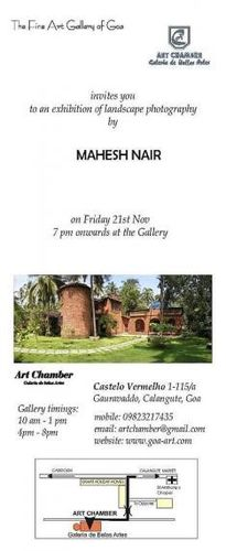 solo exhibition at art chamber, goa, 2009