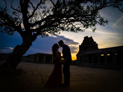 Amritha and Rohit - Before Sunset in Hampi