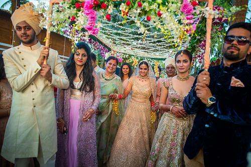 Destination wedding photography for Kriti Kharbanda sister in Goa