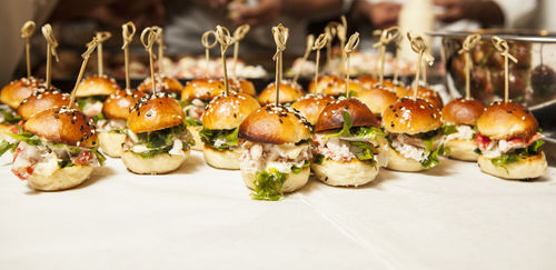 Lobster Sliders at a CSSG event in Delhi