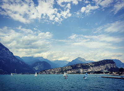 Windsurfing at the Lake Garda
