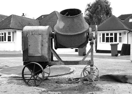 cement mixer, circa 1960s