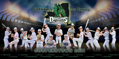 Cooperstown Baseball Banner Design