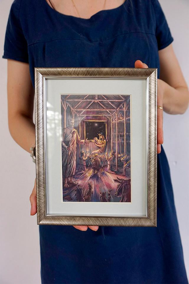 Nativity - color illustration