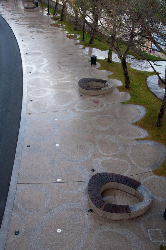 Promenade, Portorož . urban intervention