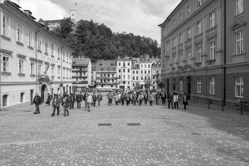 Square Novi trg, Ljubljana . urban intervention