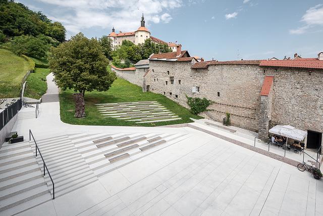 Square and Playground under the Castle . Škofja Loka