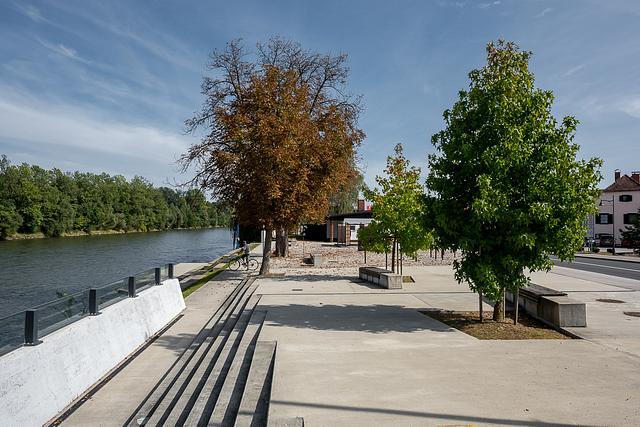 River Bank of Mura . Gornja Radgona