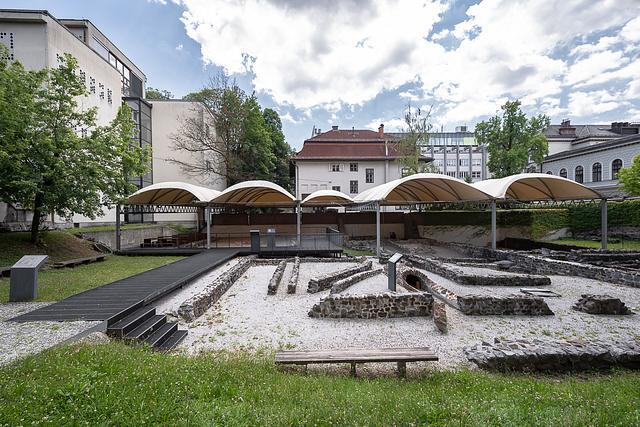 Early Christian Centre Archaeological Park, Ljubljana . urban intervention